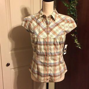 Tommy Hilfiger plaid blouse size SP